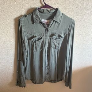 Mossimo olive green  button down
